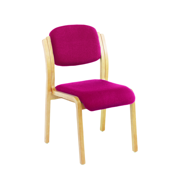 Jemini Wood Frame Side Claret Chair No Arms KF03513