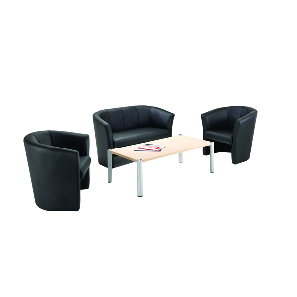 Avior Black Fabric Tub Chair