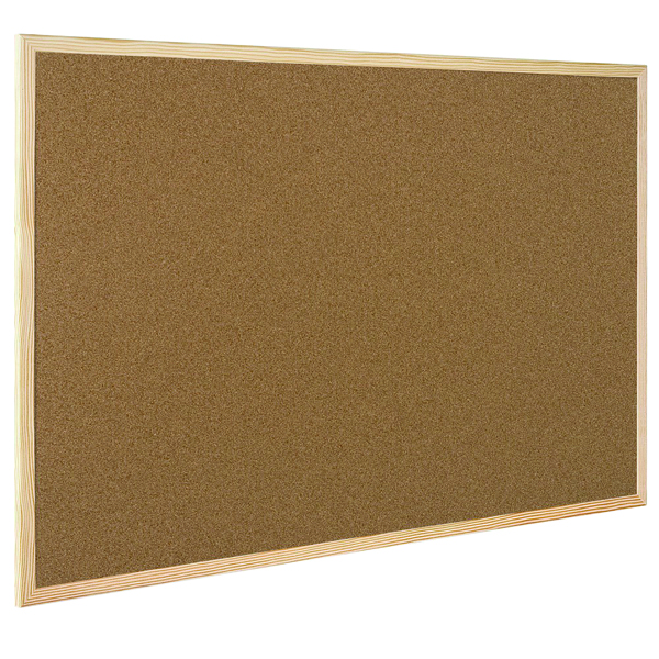 Q-Connect Wooden Frame 600x900mm Cork Board KF03567
