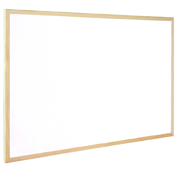 Q-Connect Wooden Frame 600x900mm Whiteboard KF03571