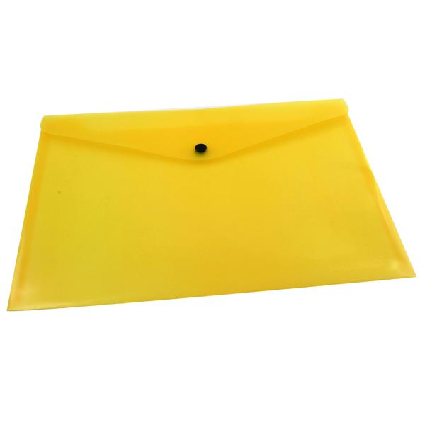 Q-Connect A4 Yellow Polypropylene Popper Folder (12 Pack) KF03595