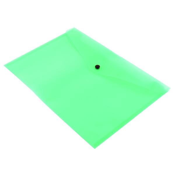 Q-Connect A4 Green Polypropylene Popper Folder (12 Pack) KF03597