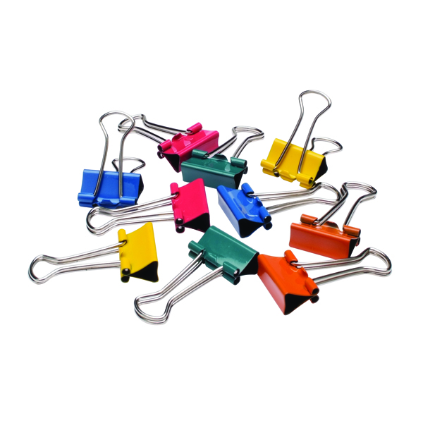 Q-Connect 19mm Assorted Foldback Clip (Pack of 10) KF03651