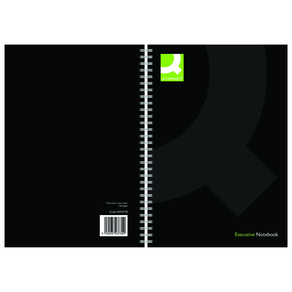Q-Connect Black A5 Wirebound Book (Pack of 3)