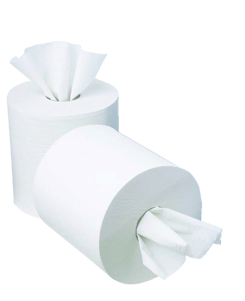 2Work 1 Ply Mini Centrefeed 120 Metre Paper Roll (12 Pack)