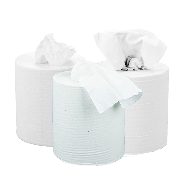 2Work White 2 Ply Centrefeed Roll 150 Metres (6 Pack) KF03804