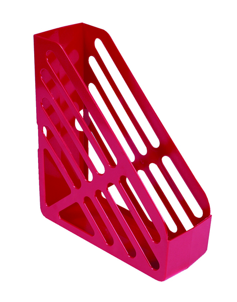 Q-Connect Red Magazine Rack CP073KFRED