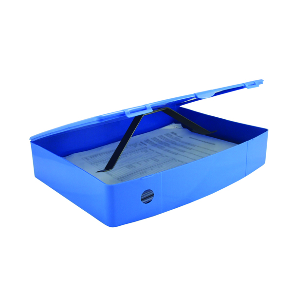 Q-Connect Box Foolscap File Polypropylene Blue KF04103
