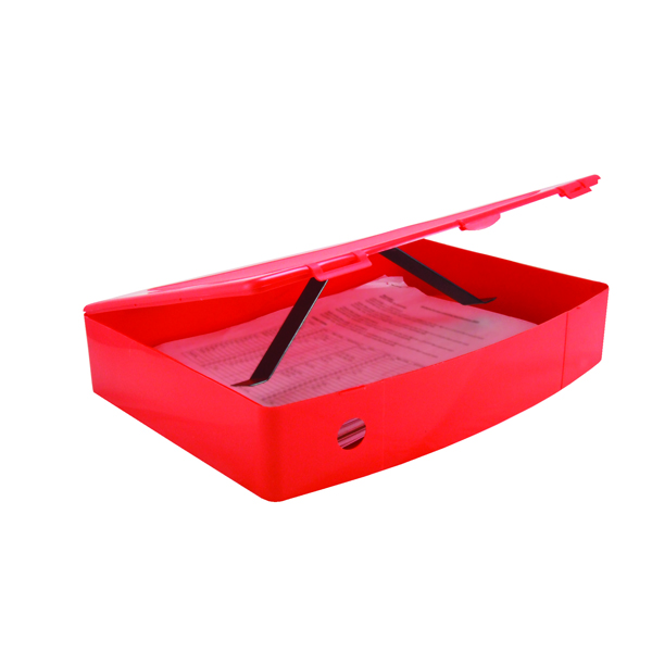 Image for Q-Connect Polypropylene Red Box Foolscap File