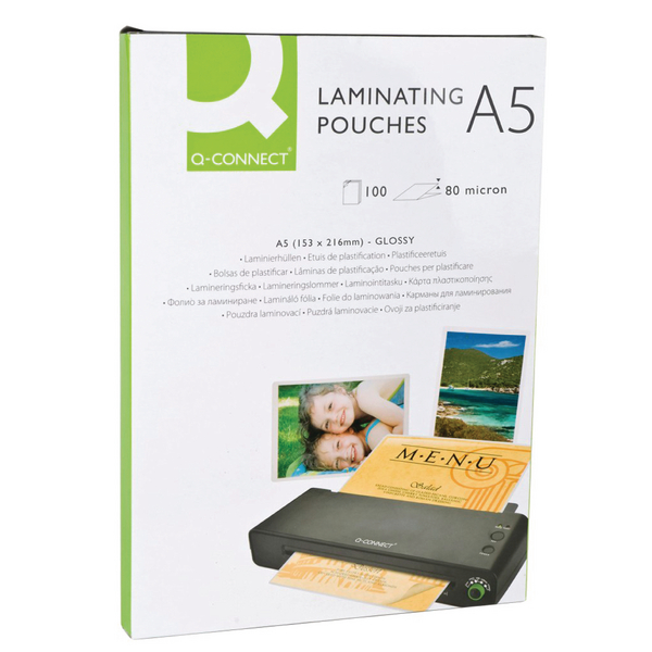 Q-Connect A5 Laminating Pouch 160 Micron (Pack of 100)