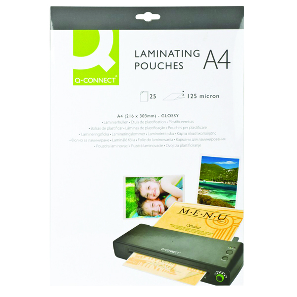 Q-Connect A4 Laminating Pouch 250 Micron (Pack of 25)