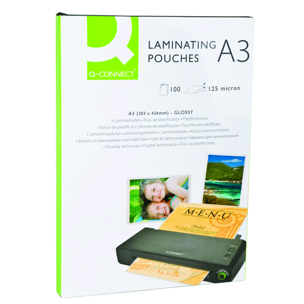 Q-Connect A3 Laminating Pouch 250 Micron (Pack of 100)