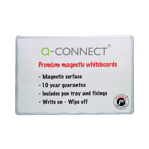 Q-Connect Magnetic 900x600mm Drywipe Board