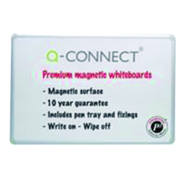Q-Connect 1800x1200mm Magnetic Drywipe Board