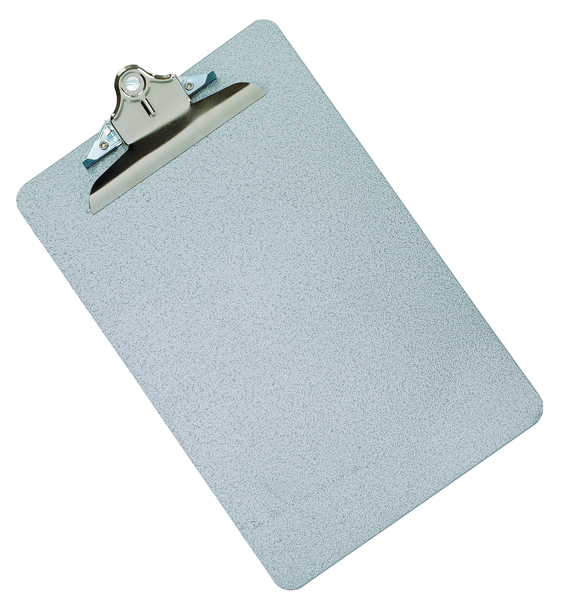 Q-Connect Grey Foolscap/A4 Steel Clipboard