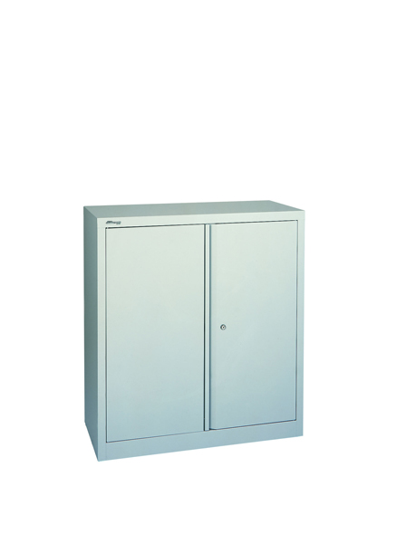 Jemini Grey 2 Door Stationary Cupboard 1000mm