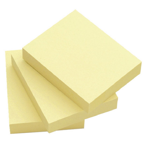 Q-Connect Repositionable Quick Notes 51 x 76mm Yellow (12 Pack) KF10501