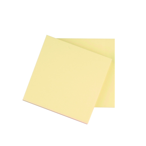 Q-Connect Repositionable Quick Notes 76 x 76mm Yellow (12 Pack) KF10502