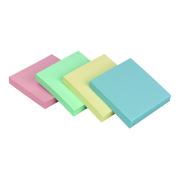 Q-Connect Repositionable 76 x 76mm Pastel Rainbow Quick Notes Pack of 12 KF10509