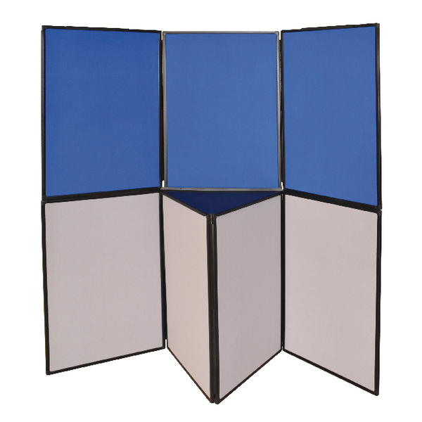 Q-Connect 3 Panel Blue/Grey Display Board DSP330513