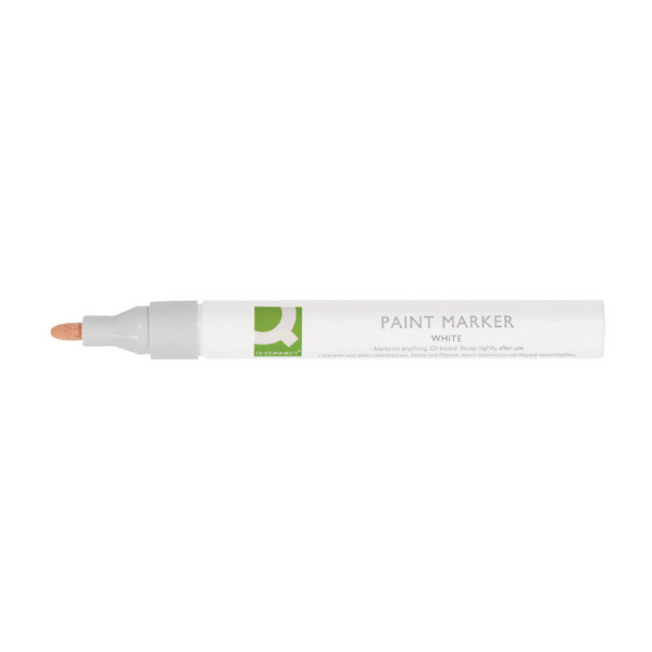 Q-Connect White Paint Marker Pen (10 Pack) KF14452