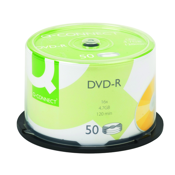 Image for Q-Connect DVD-R 4.7GB Cake Box (Pack of 50)