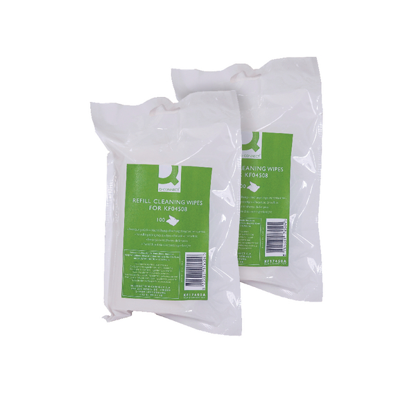 Image for Q-Connect Telephone and Surface Wipes Refill (Pack of 200) ABTW100RQCA