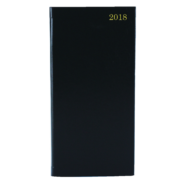 Week to View 2018 Portrait Black Slim Diary