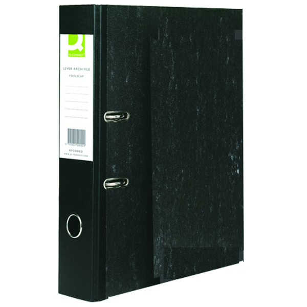 Q-Connect Black Foolscap Lever Arch File (10 Pack) KF20002