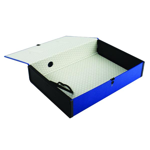 Q-Connect Box Foolscap File Blue