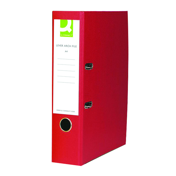Q-Connect Red A4 Paperbacked Lever Arch File (10 Pack) KF20041