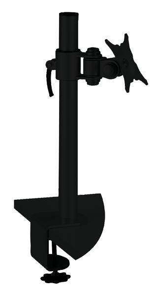 Q-Connect Black Flat Screen Pivot Monitor Arm KF20083