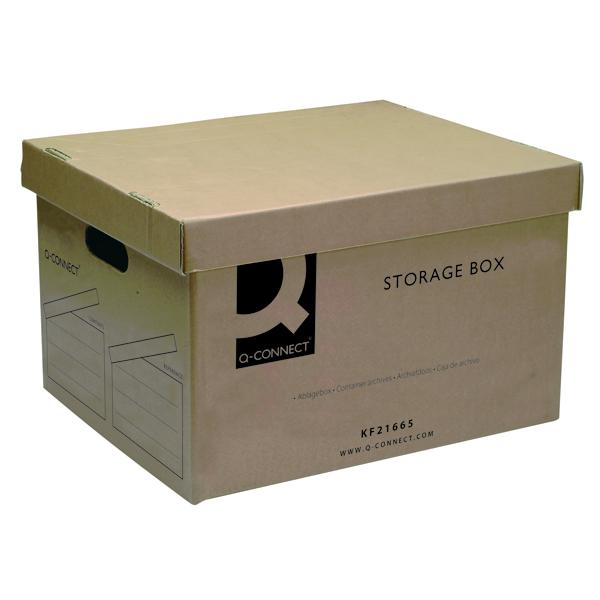 Q-Connect Brown Storage Box 335x400x250mm (10 Pack) KF21665
