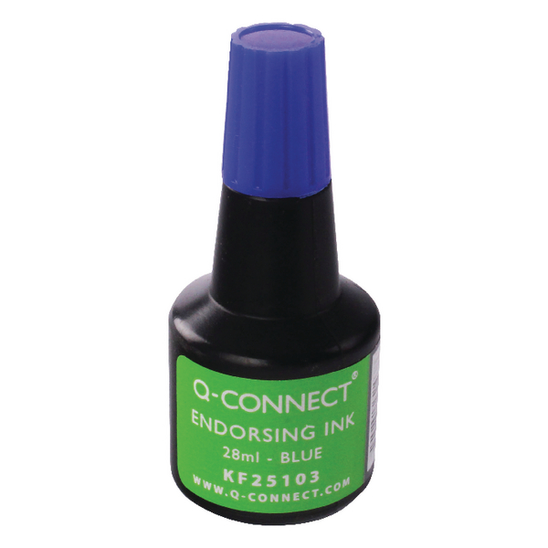 Q-Connect Blue Endorsing Ink 28ml (Pack of 10) KF25103Q