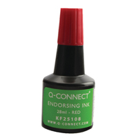 Q-Connect Red Endorsing Ink 28ml (Pack of 1) KF25108