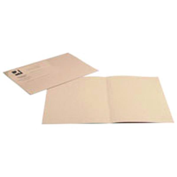 Q-Connect Buff Square Cut Folder Lightweight 180gsm Foolscap (100 Pack) KF26032