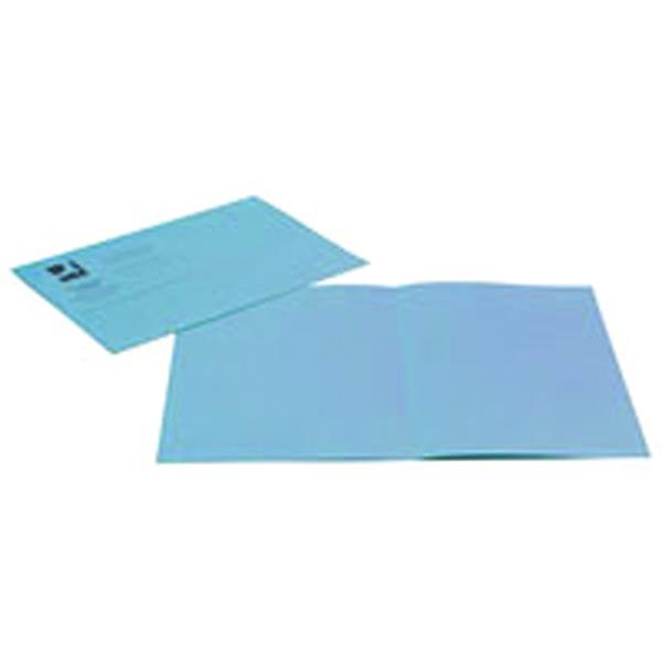 Q-Connect Blue Square Cut Folder Lightweight 180gsm Foolscap (100 Pack) KF26033