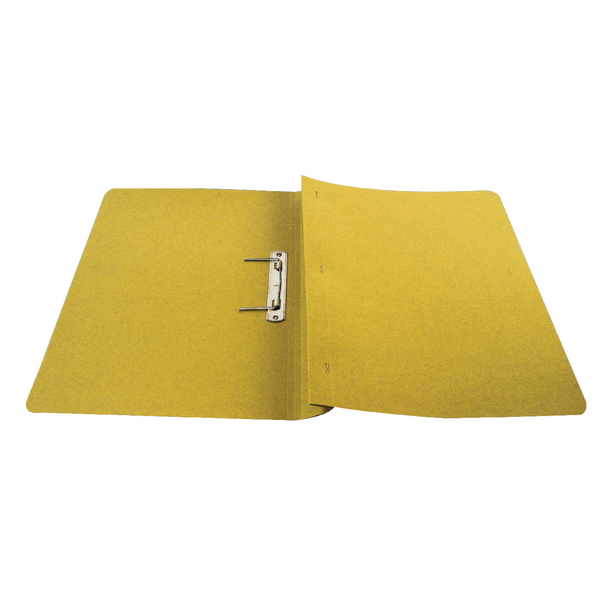 Q-Connect Transfer File Foolscap/A4 35mm Capacity Yellow (25 Pack) KF26057