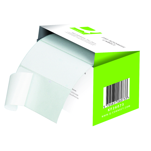 Q-Connect Self Adhesive Address Labels 89x36mm (Pack of 250) KF26073