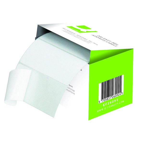 Image for Q-Connect Easy Peel Adhesive Address Labels (Pack of 200)