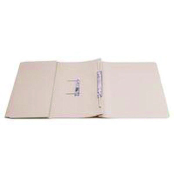 Q-Connect Transfer Pocket File Foolscap 35mm Capacity Buff (25 Pack) KF26095
