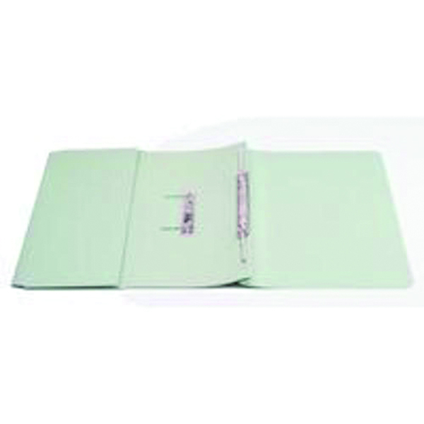 Q-Connect 35mm Capacity Green Transfer Pocket Foolscap File (Pack of 25) KF26096