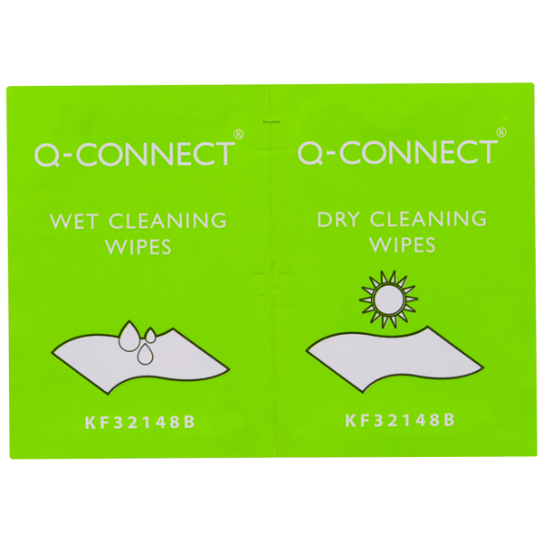 Q-Connect Wet and Dry Wipes (Pack of 20)