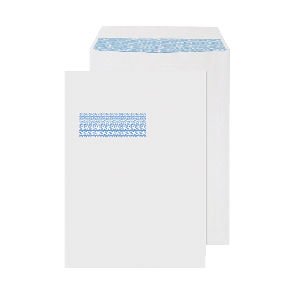 C4 Window Envelopes 90gsm Self Seal White (Pack of 250) 2907