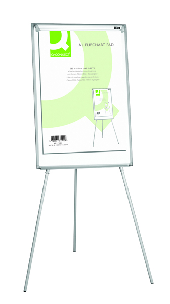 Image for Q-Connect Flipchart A1 Pad Plain 40 Sheets (Pack of 5)