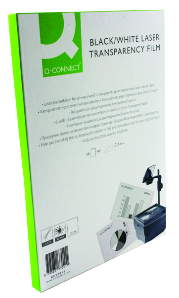 Q-Connect Clear Mono Laser OHP Film (Pack of 50)