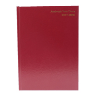 Week to View 2017/18 A4 Burgundy Academic Diary