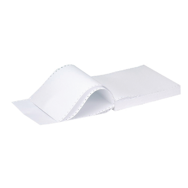 Q-Connect Listing Paper 11 inches x241mm 1-Part 70gsm Plain Micro-Perforated Pack of 2000