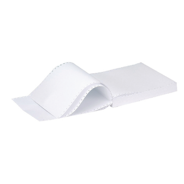 Q-Connect Listing Paper 11 inches x370mm 1-Part 70gsm Plain Pack of 2000