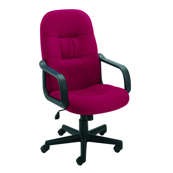 Jemini High Back Manager Chair Claret KF50179